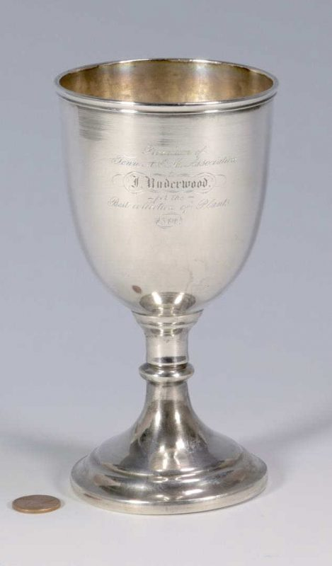Lot 131: TN Agricultural Coin Silver Goblet