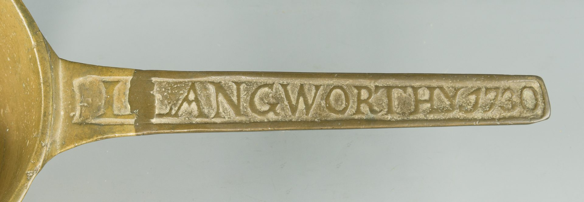 Lot 140: 1730 Brass Posnet, Langworthy