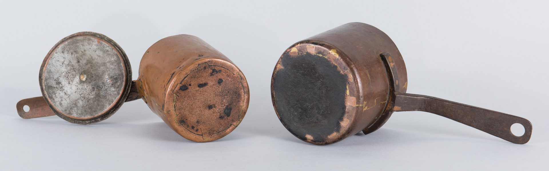 Lot 141: 2 19th Cent. Copper Pots, 1 signed