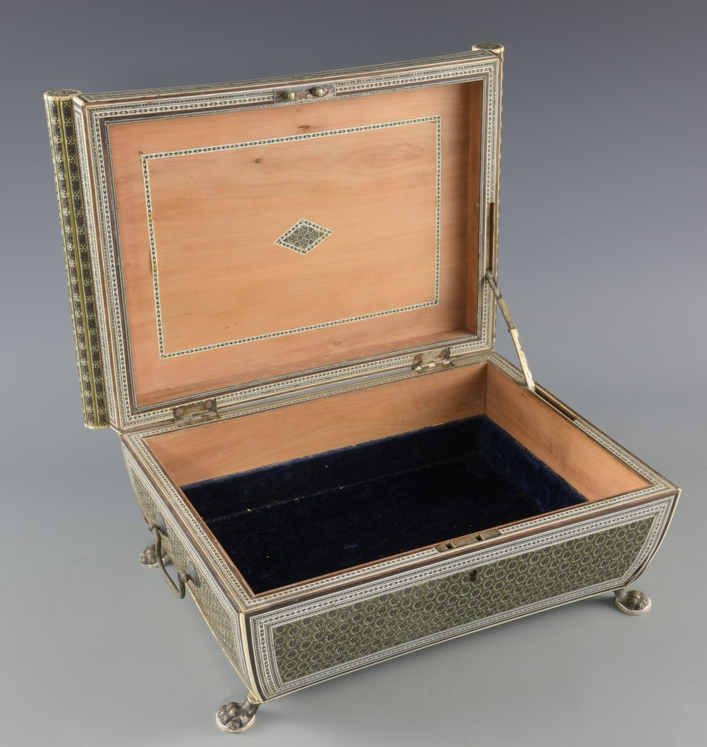 Lot 146: Anglo-Indian Marquetry Box