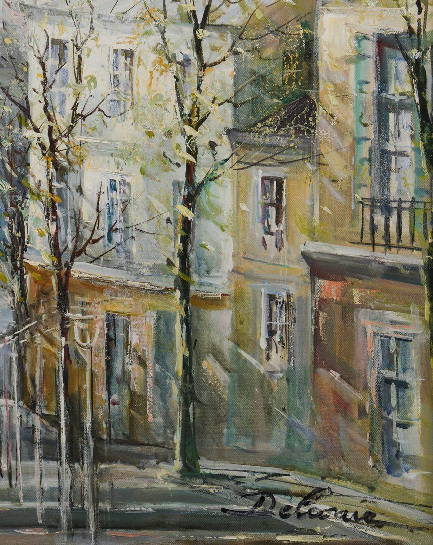 Lot 148: Lucien Delarue, Oil on Linen, Paris Street Scene