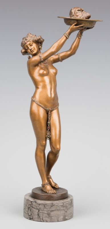 Lot 153: Franz Bergmann Bronze, Salome