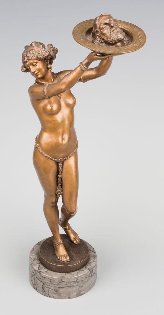 Lot 153: Franz Bergmann Bronze, Salome