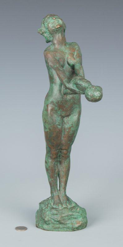 """Lot 154: Edith Parsons Bronze Sculpture,""""Joy"""""""