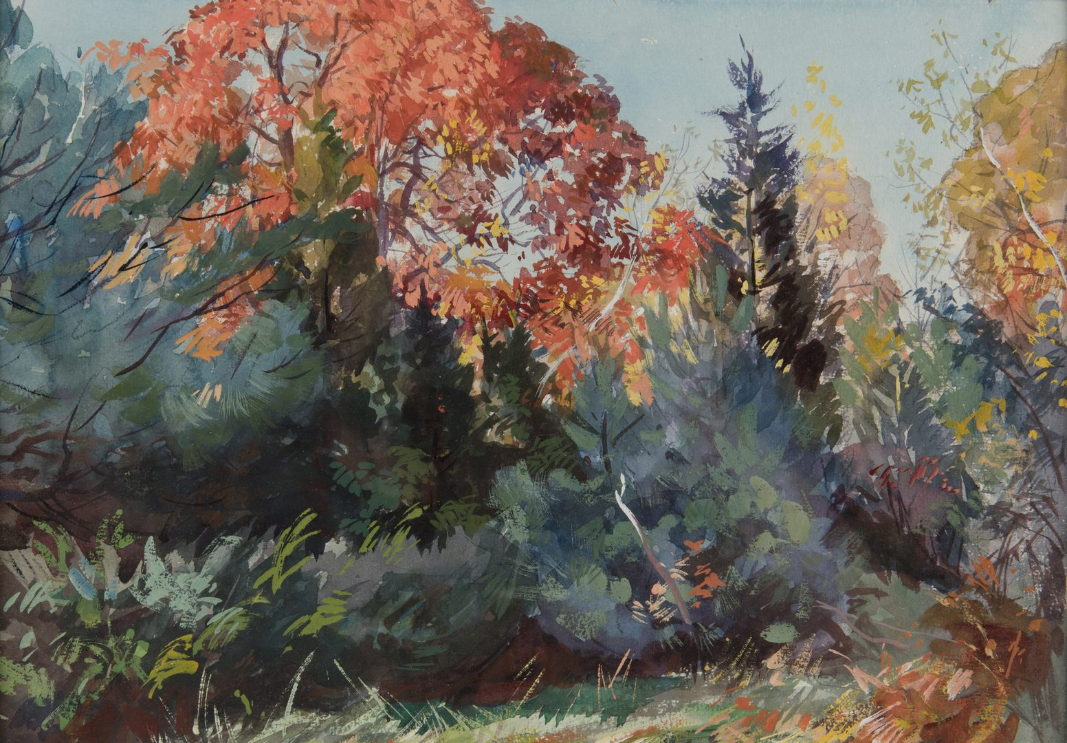 Lot 156: 2 A. L. Ripley Landscapes, Spring & Fall