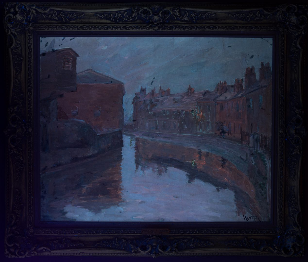 Lot 157: William S. Horton o/c, Canal at Night