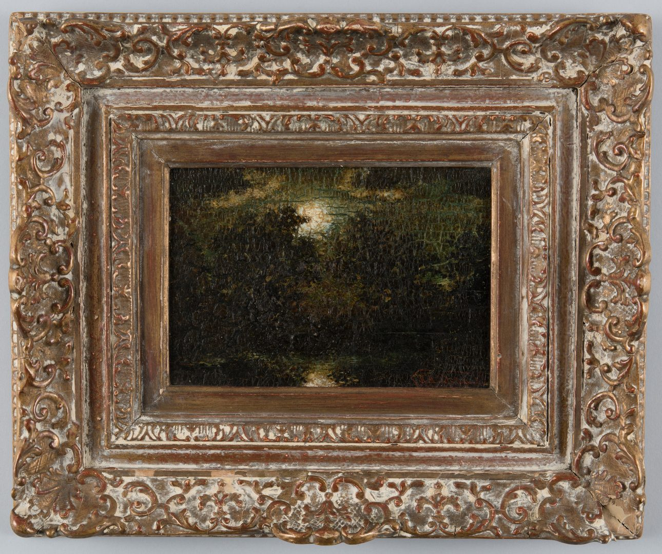 Lot 158: Ralph Albert Blakelock O/B Moonlit Landscape