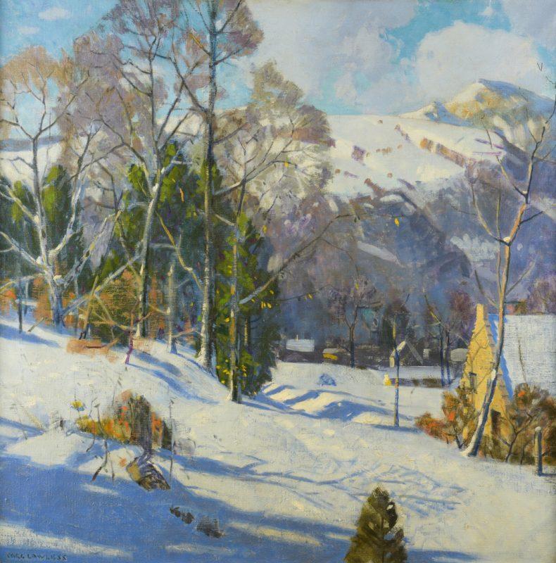 Lot 159: Carl Lawless O/C Winter Scene