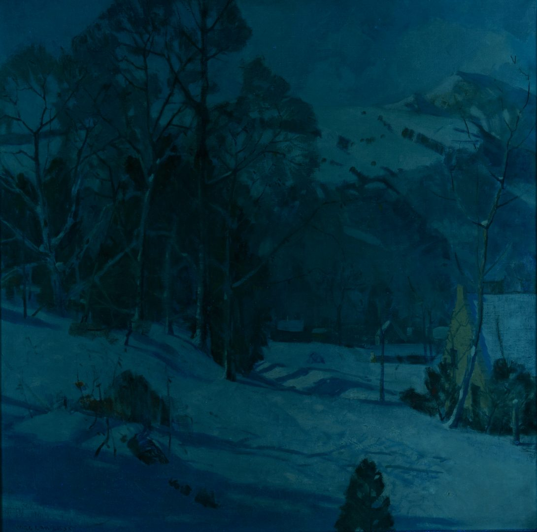 Lot 159: Carl Lawless O/C Winter Scene