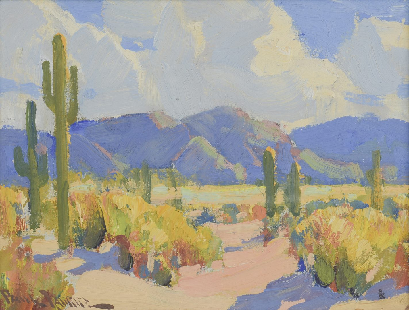 Lot 164: Paul Lauritz, O/B, Desert Landscape