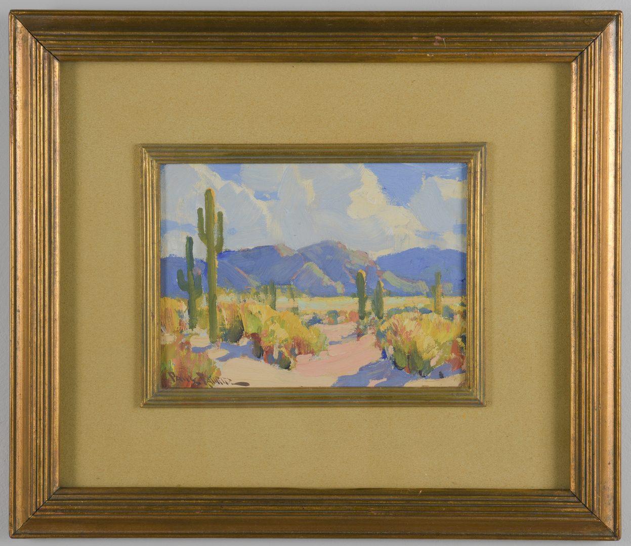 Lot 164: Paul Lauritz, O/B, Desert Landscape
