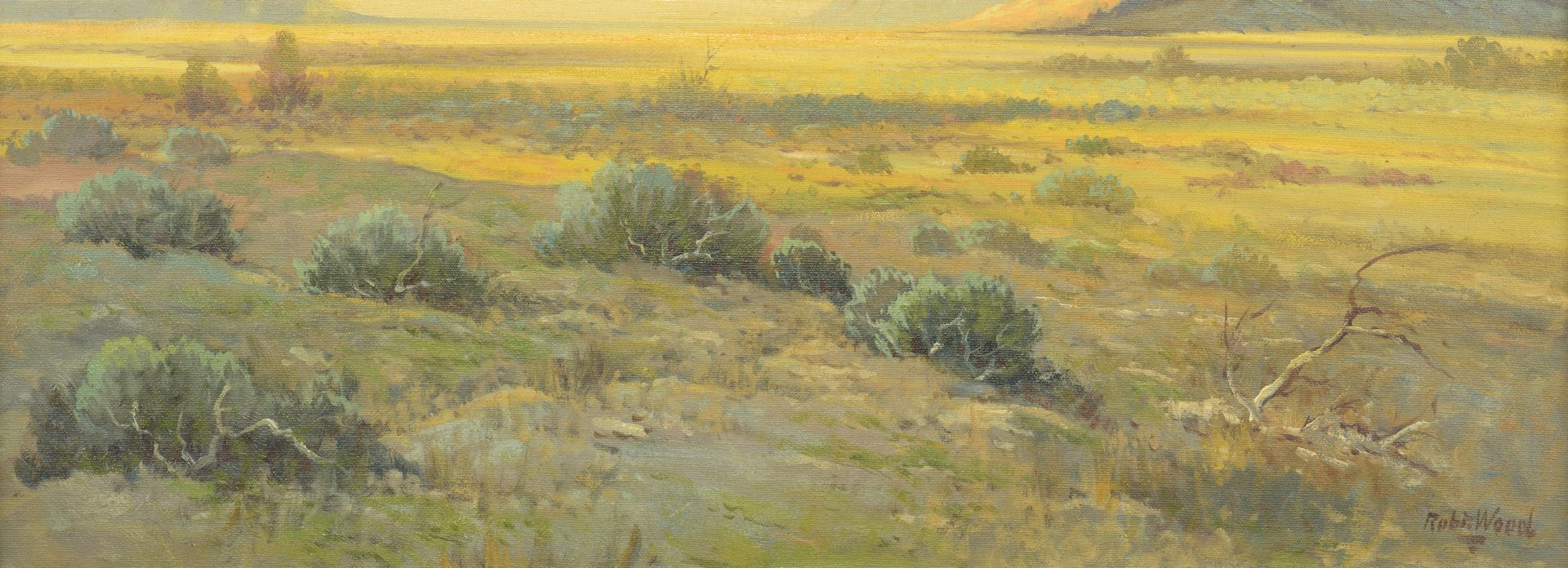 Lot 165: Robert Wood New Mexico Landscape Oil Painting