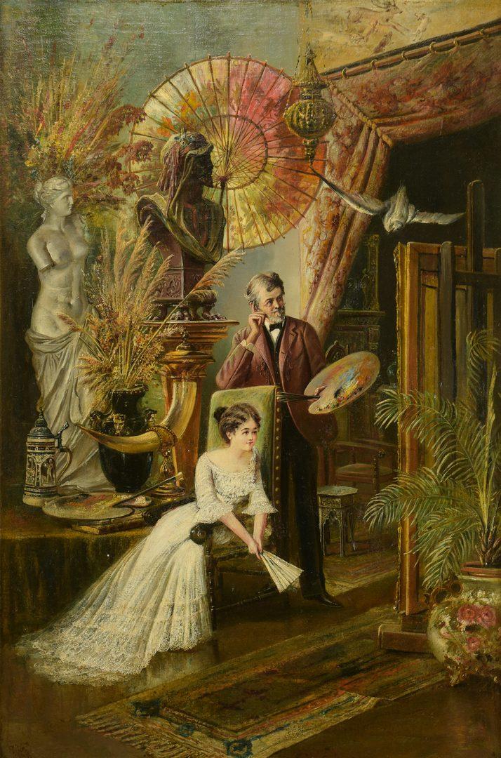 Lot 169: Carl Philipp Weber, O/C, The Studio