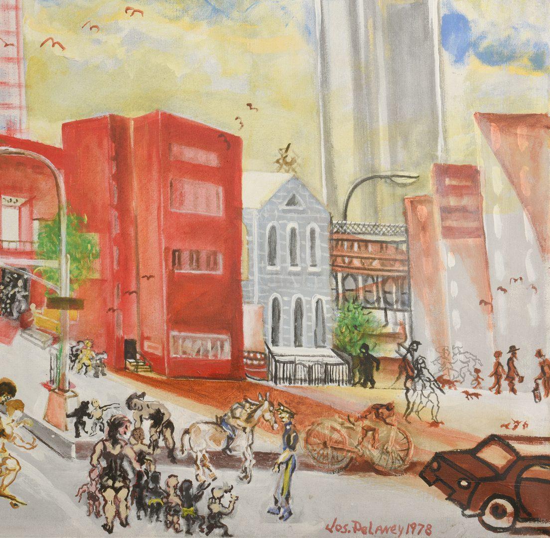 Lot 174: Joseph Delaney o/c, Henry Street