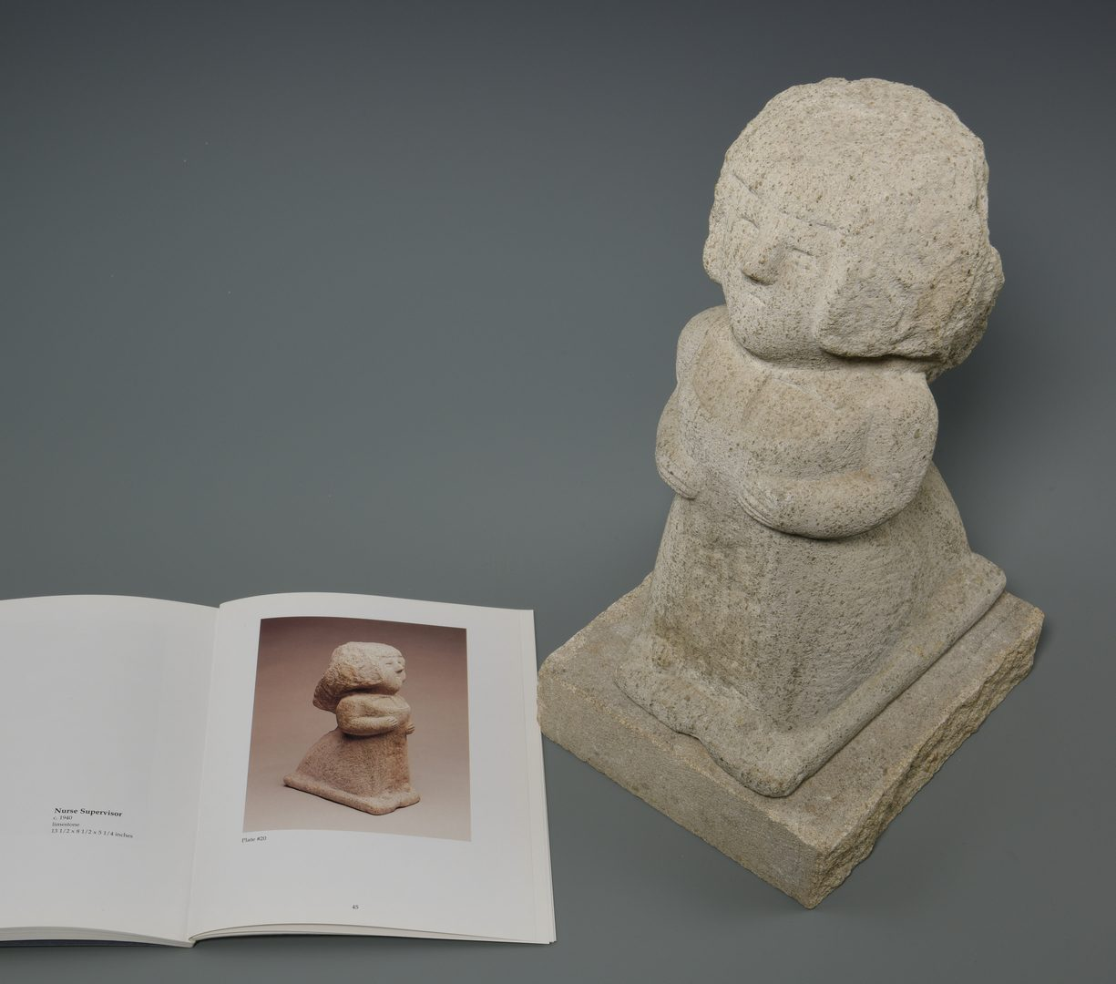 Lot 175: William Edmondson Sculpture, Nursing Supervisor