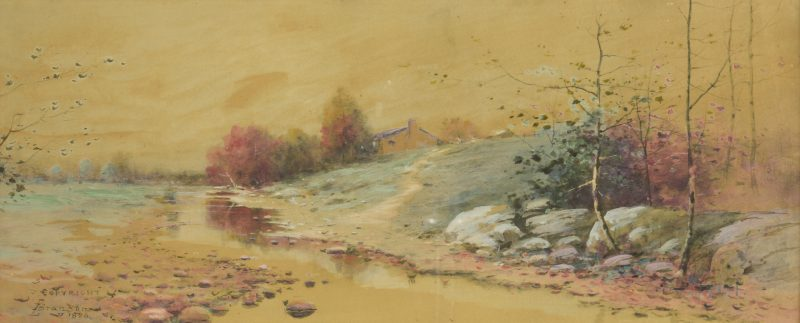 Lot 177: L. Branson Watercolor Landscape