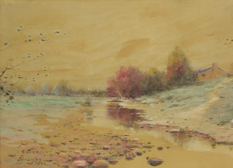 Lot 177: L. Branson Watercolor Landscape