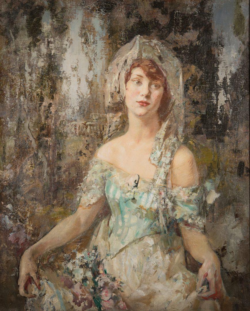 "Lot 183: Fred Carpenter o/c, Portrait of ""Miss K"""