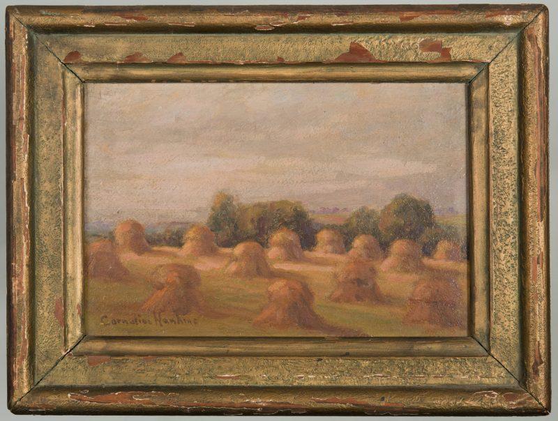 Lot 185: Cornelius Hankins Haystack Painting