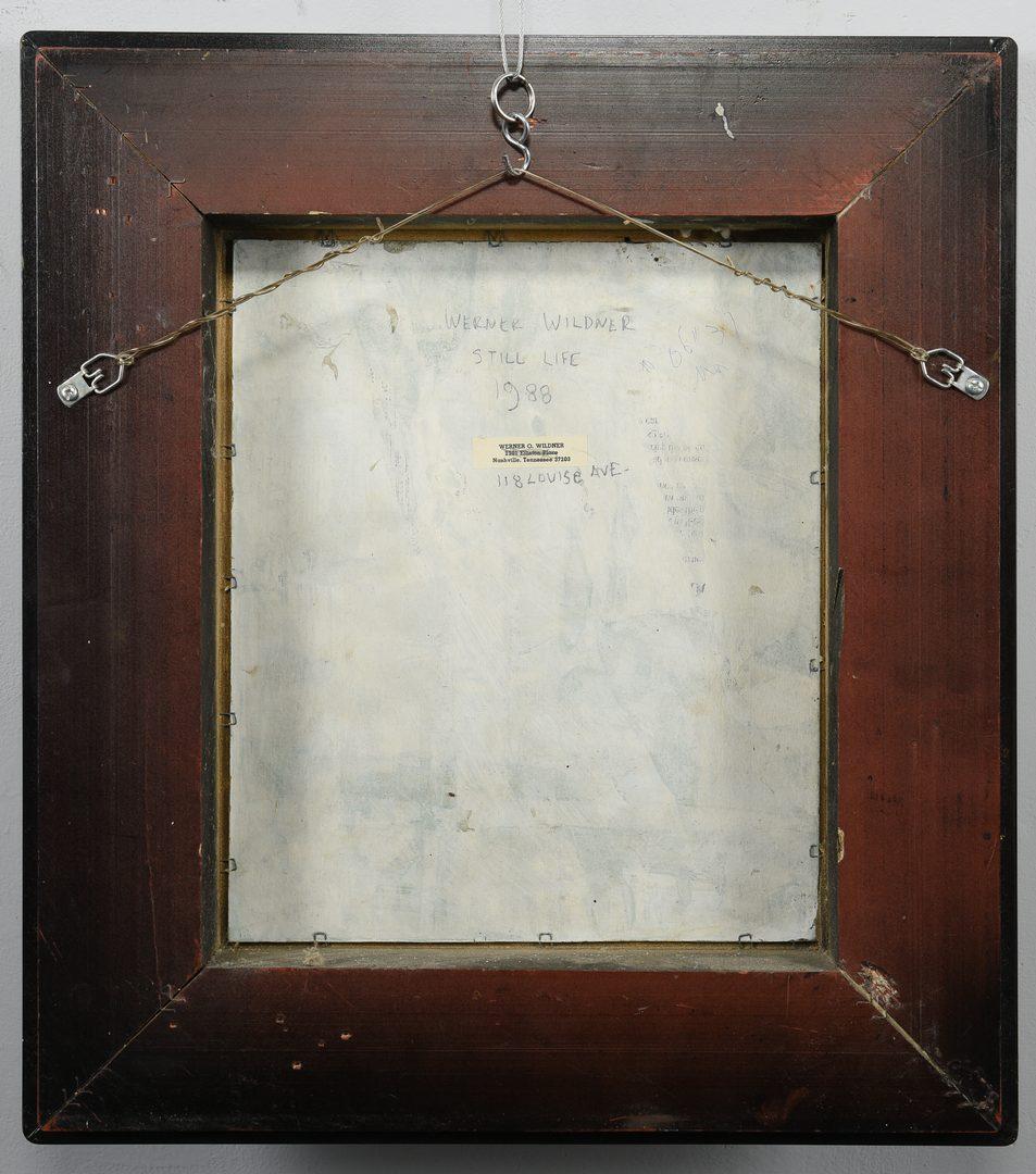 Lot 189: Werner Wildner Still LIfe Painting
