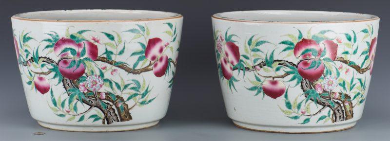 Lot 18: Pair Qing Jardineres
