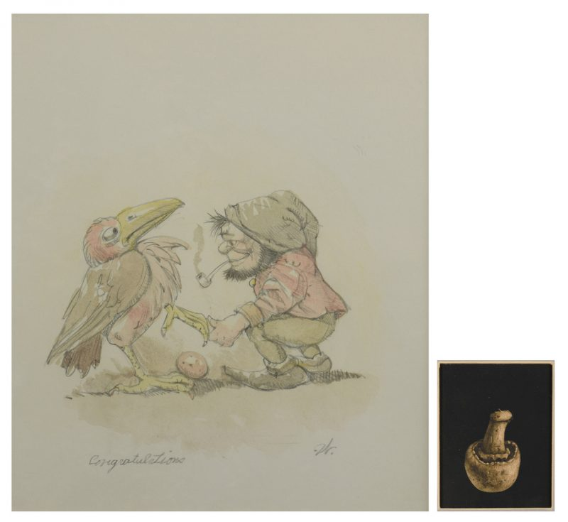 Lot 190: 2 Werner Wildner Surrealist Works