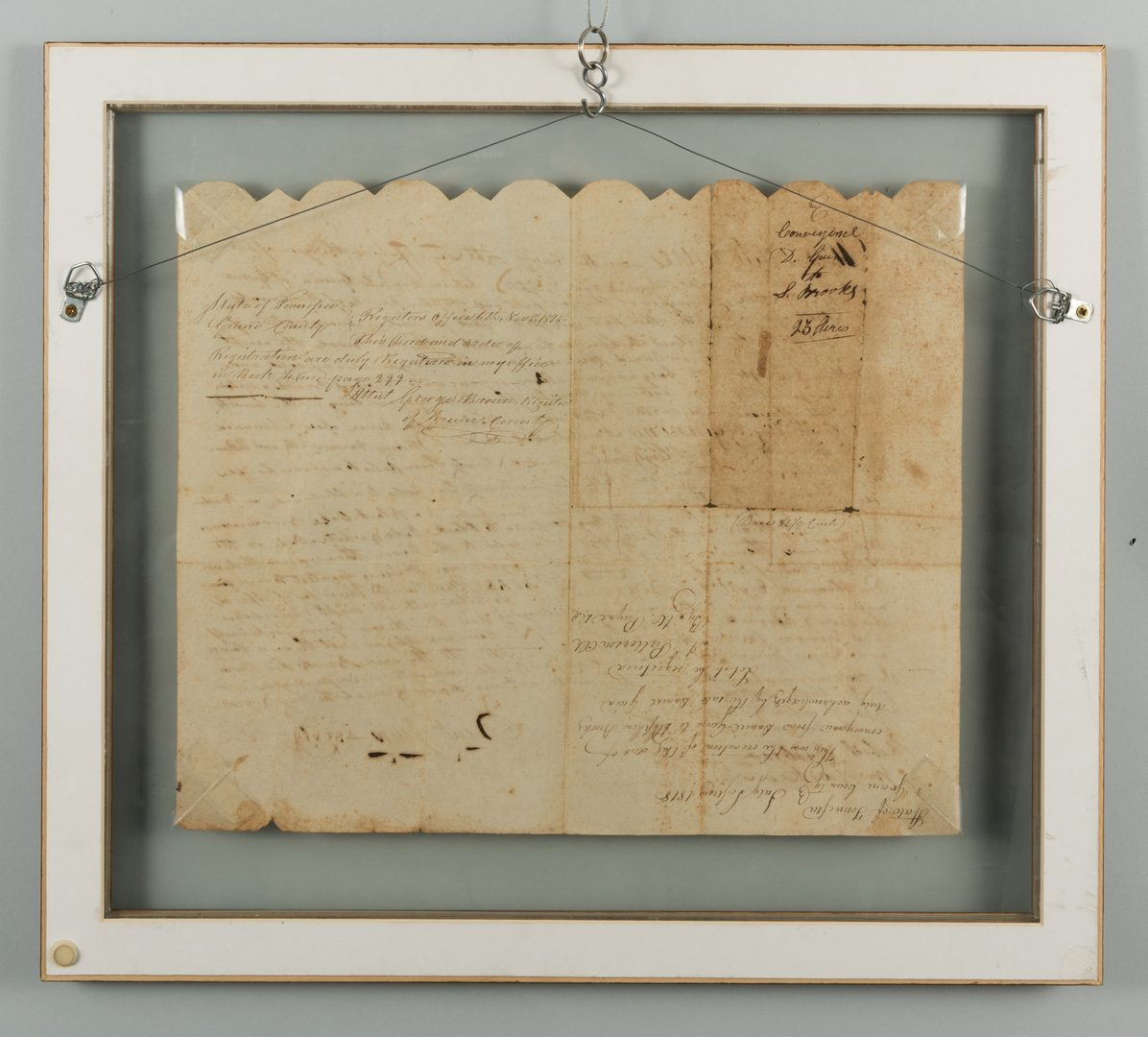Lot 196: East TN Political Broadside, 1857 and Wm. Dickson Signed Land Indenture, 1818