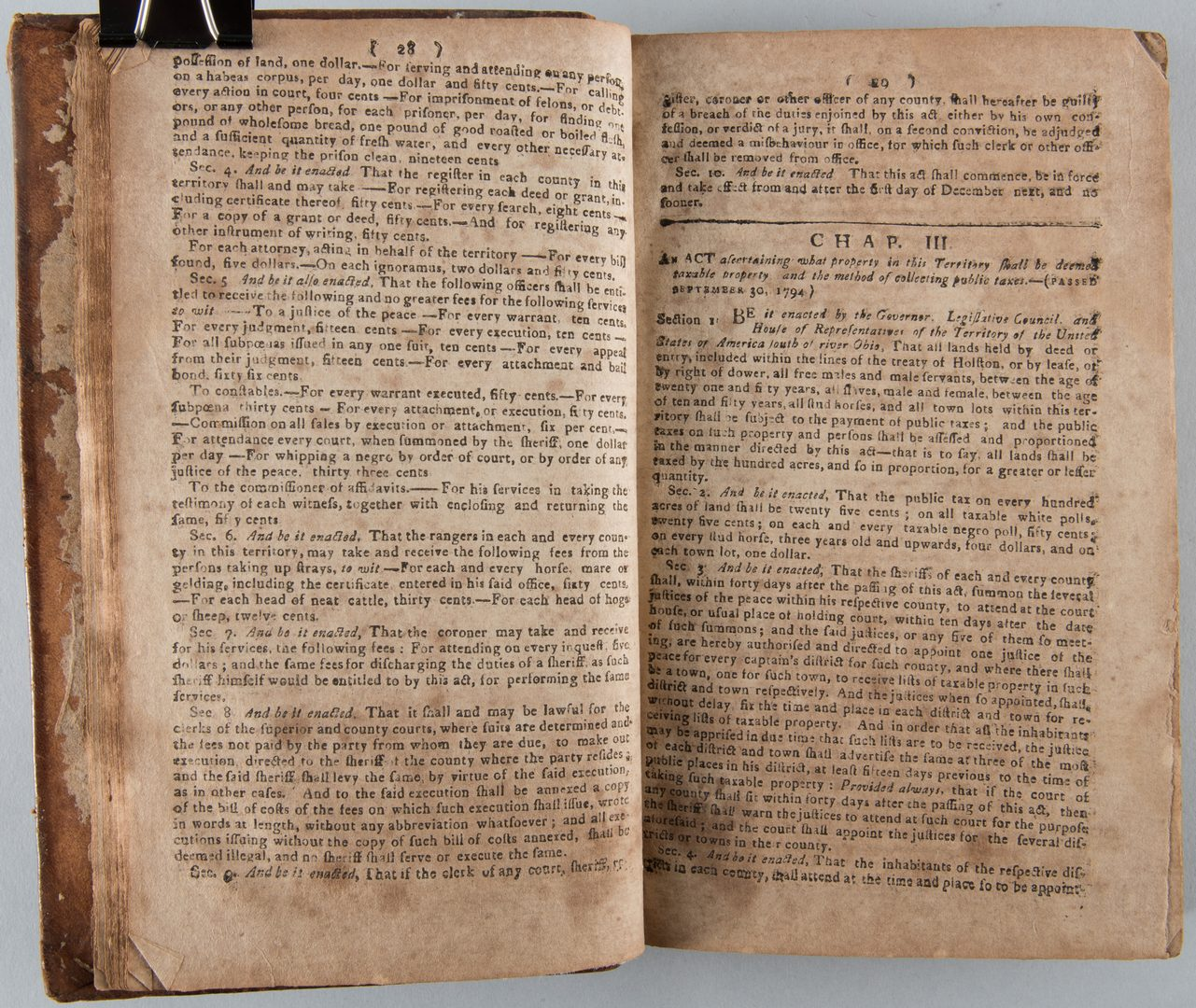 Lot 198: Laws of Tennessee: Knoxville, Roulstone 1803