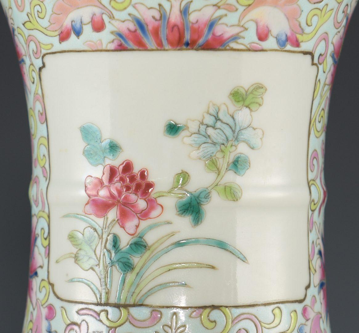 Lot 19: Qing Famille Rose Porcelain Vase