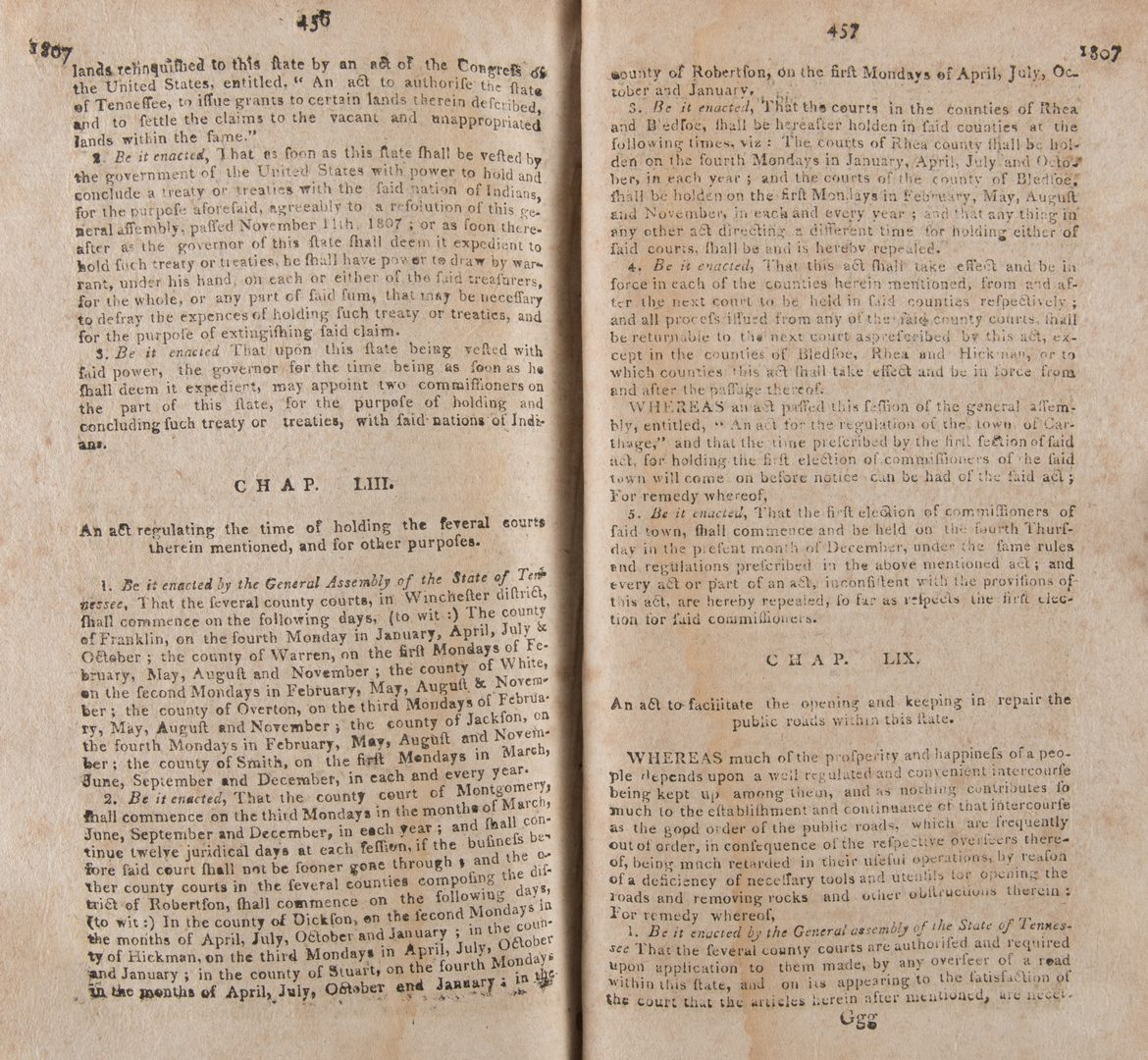 Lot 201: Haywood: Revisal Tennessee Acts Nashville 1809