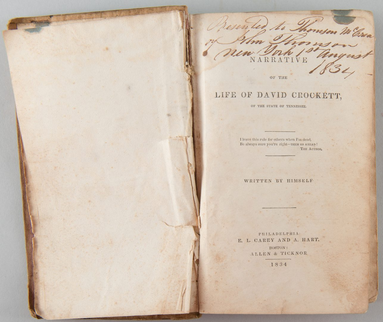 Lot 203: Jackson and Davy Crockett biographies, 3