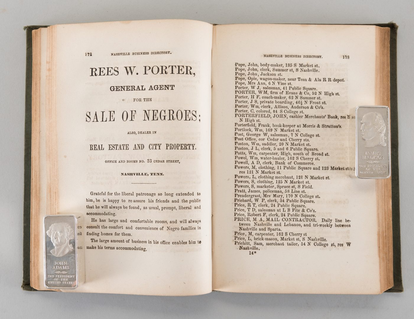 Lot 204: Nashville 1857 Business Directory
