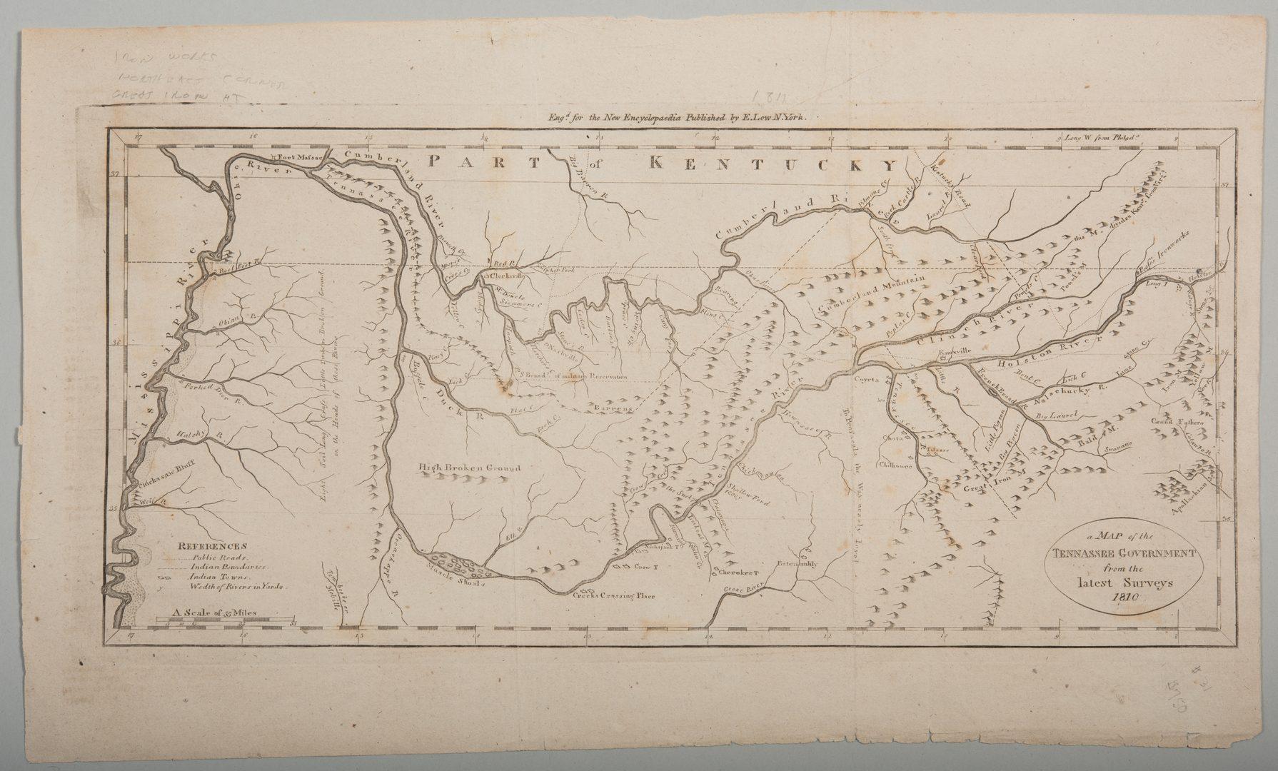 Lot 209: Tenn. Map 1811, Payne/Low