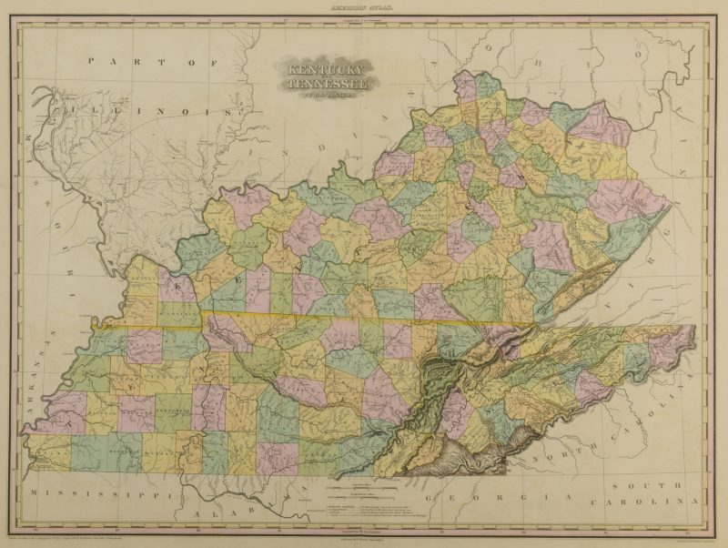 Lot 212: KY and TN 1823 Map, H.S. Tanner