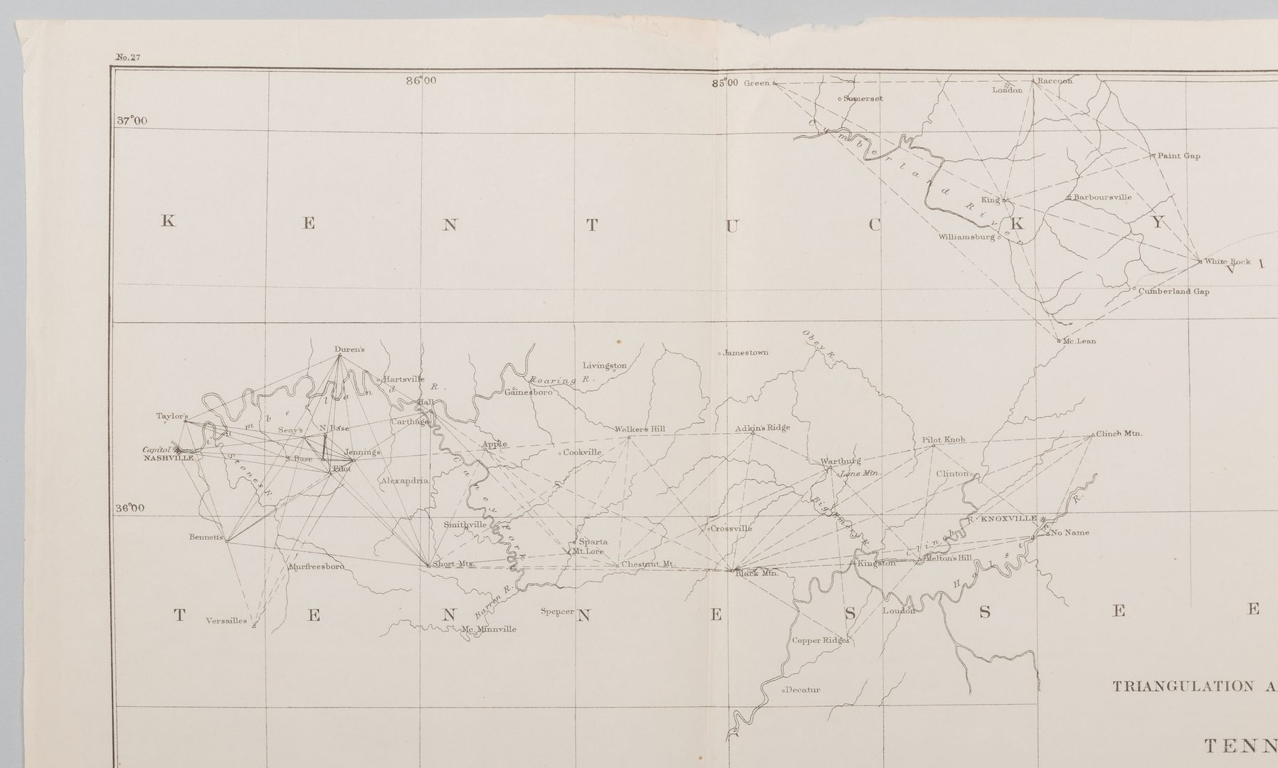 Lot 214: 8 Tennessee Military & Survey Maps