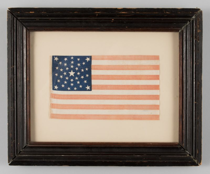 Lot 216: 38 star Parade Flag, Summer Sky