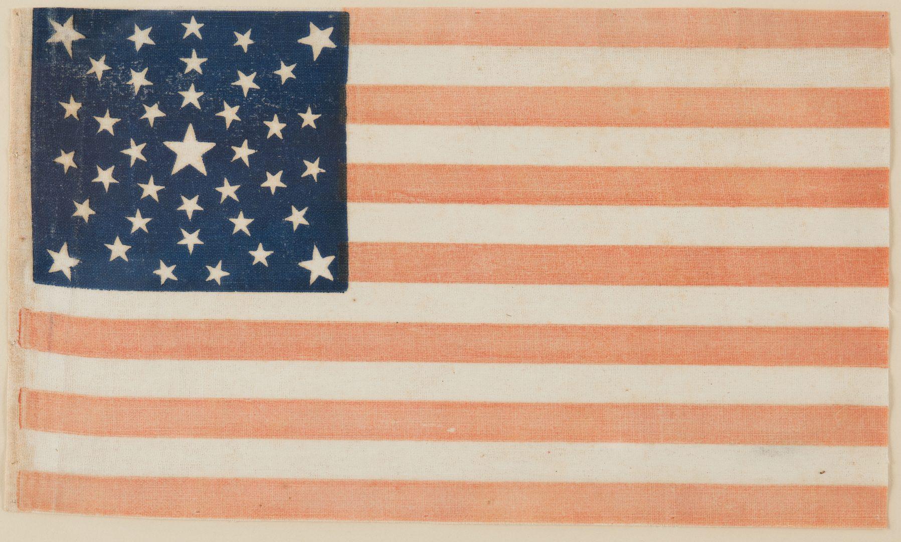 Lot 216: 38 star Parade Flag, Summer Sky