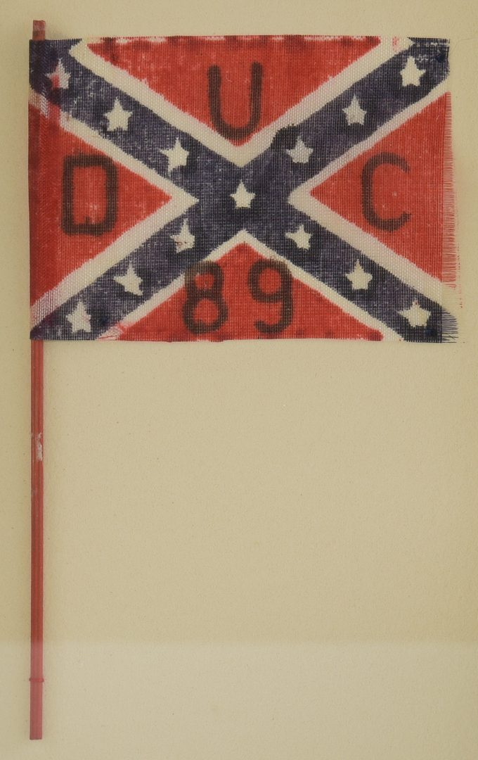 Lot 217: 2 Parade Flags, US and CSA