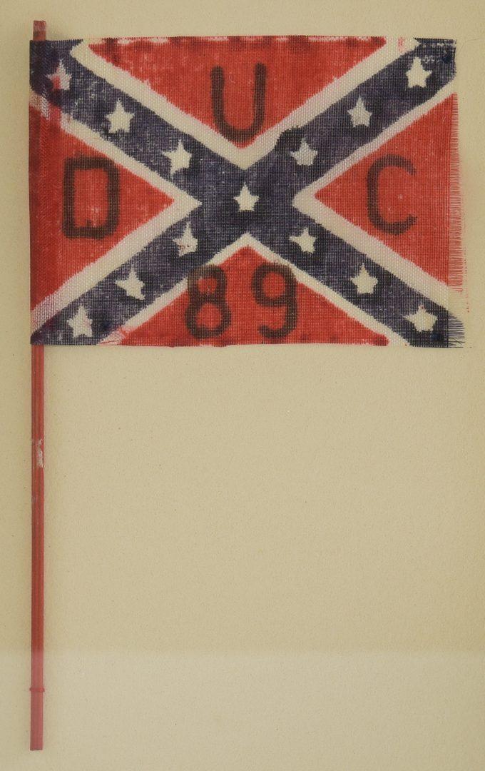 Lot 217: 2 Parade Flags, US and CSA