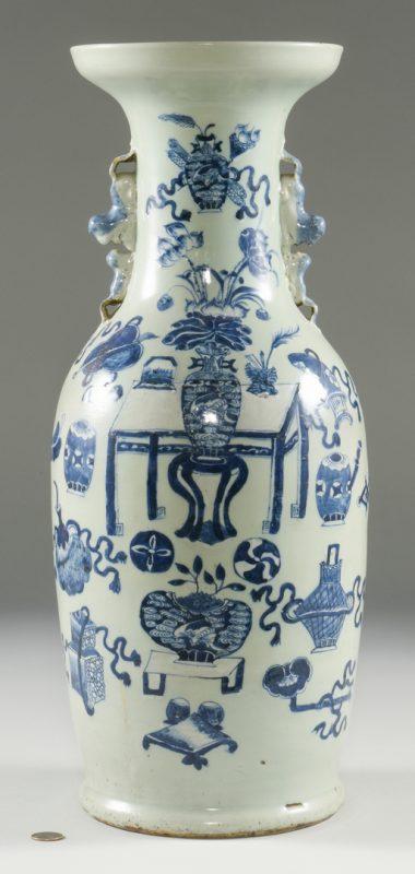 Lot 21: Chinese Blue & White Porcelain Floor Vase