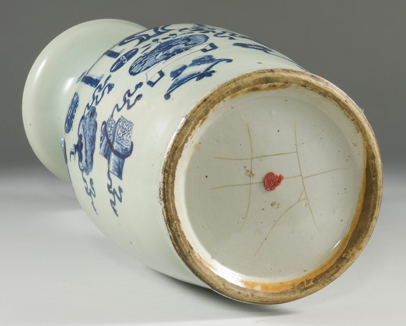 Lot 21: Chinese Blue & White Porcelain Floor Vase
