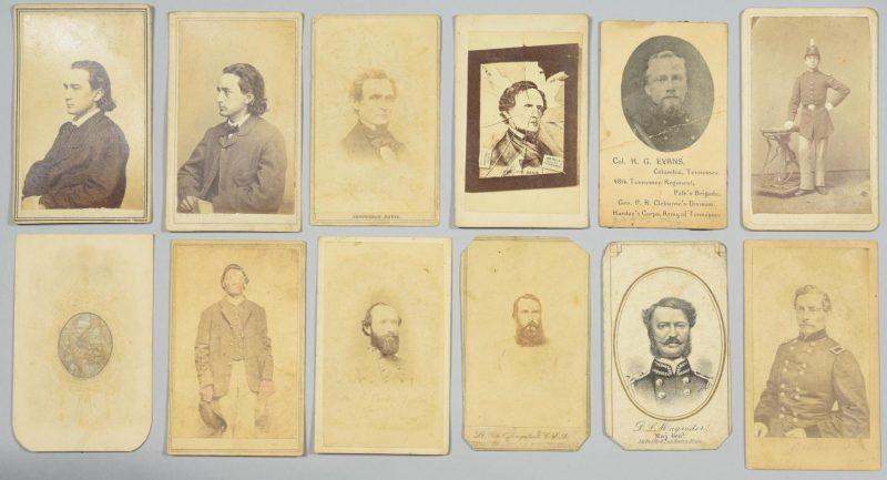 Lot 229: 12 Civil War CSA Related CDVs