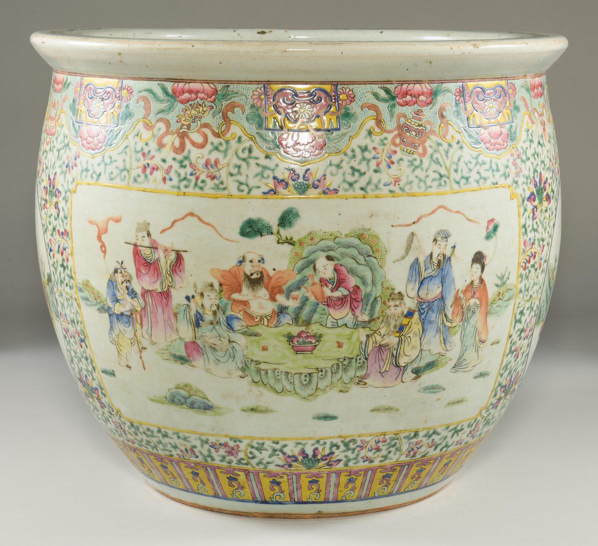 Lot 22: Famille Rose Porcelain Fish Bowl, Republic Period