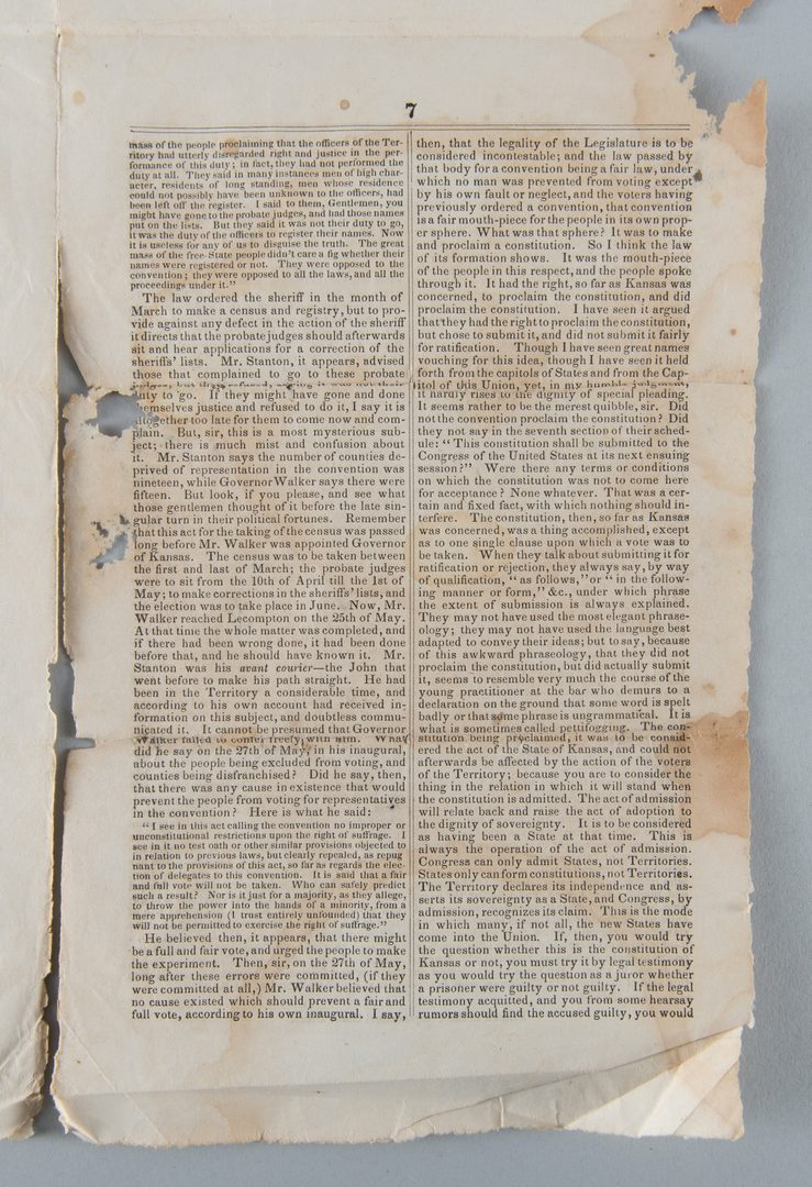 Lot 234: TN Civil War Broadside, Pamphlet, Letter