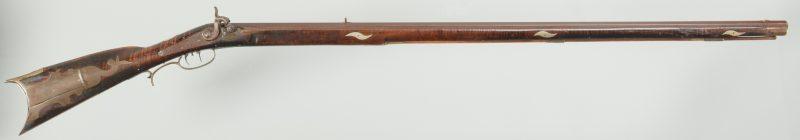 Lot 242: J M Burns Marked Long Rifle, .30 Cal.