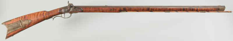 Lot 243: Full Stock Long Rifle, approx. .45 Cal.