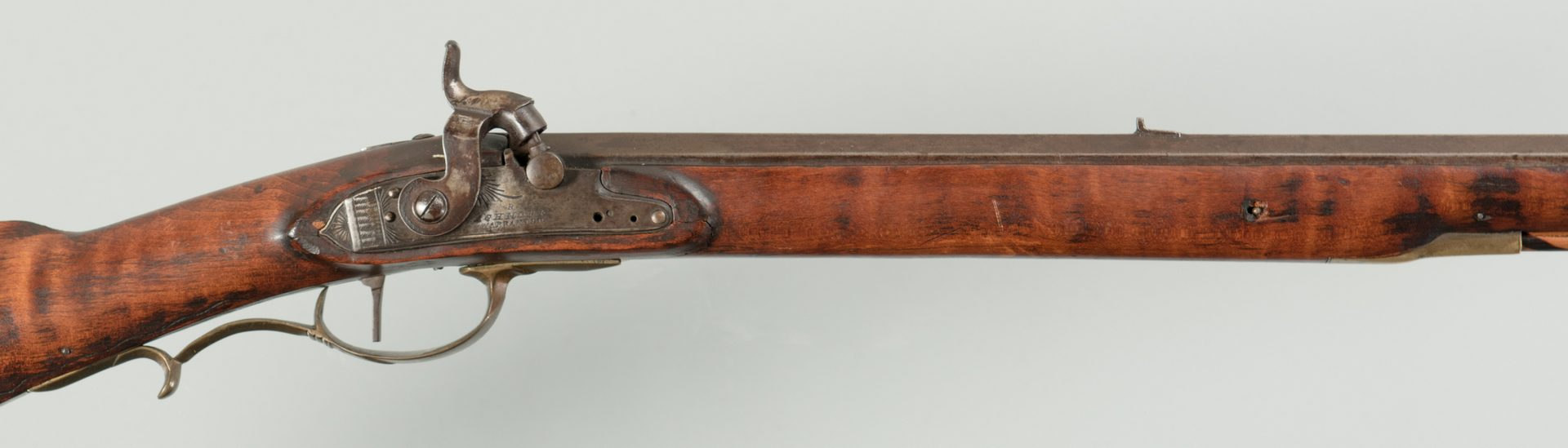 Lot 243: Full Stock Long Rifle, approx. .45 Cal.