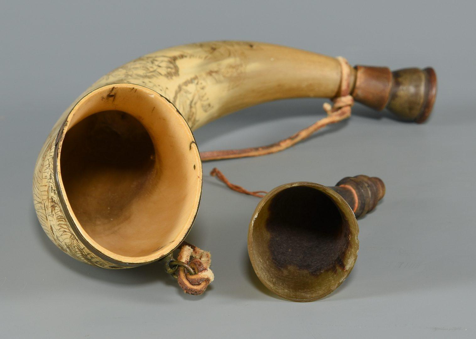 Lot 244: 2 TN Horn Flasks