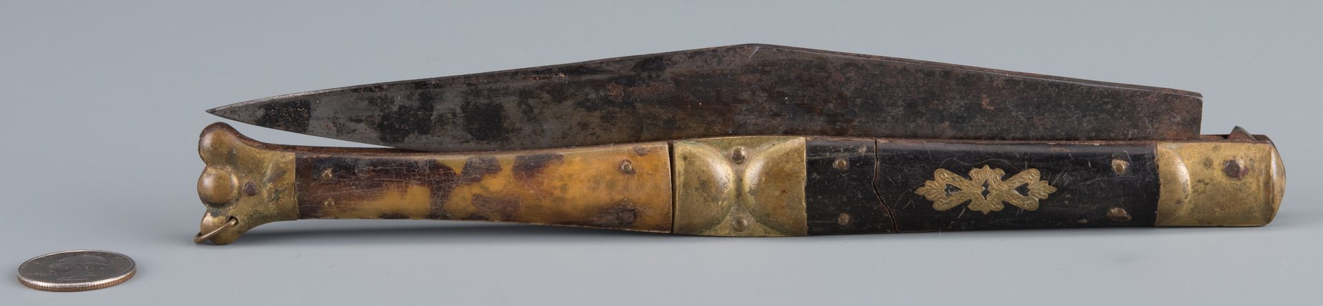 Lot 245: 19th c. Hunting Knife, Girodias