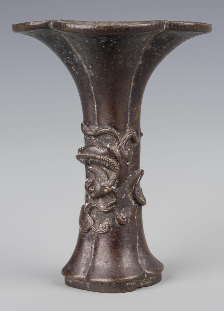 Lot 253: 2 Chinese Bronze Vases